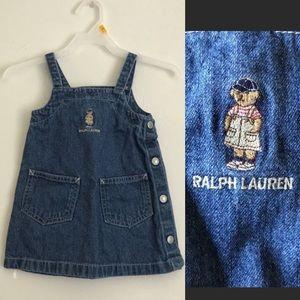 Ralph Lauren Vintage Classy Bear Denim Dress Baby